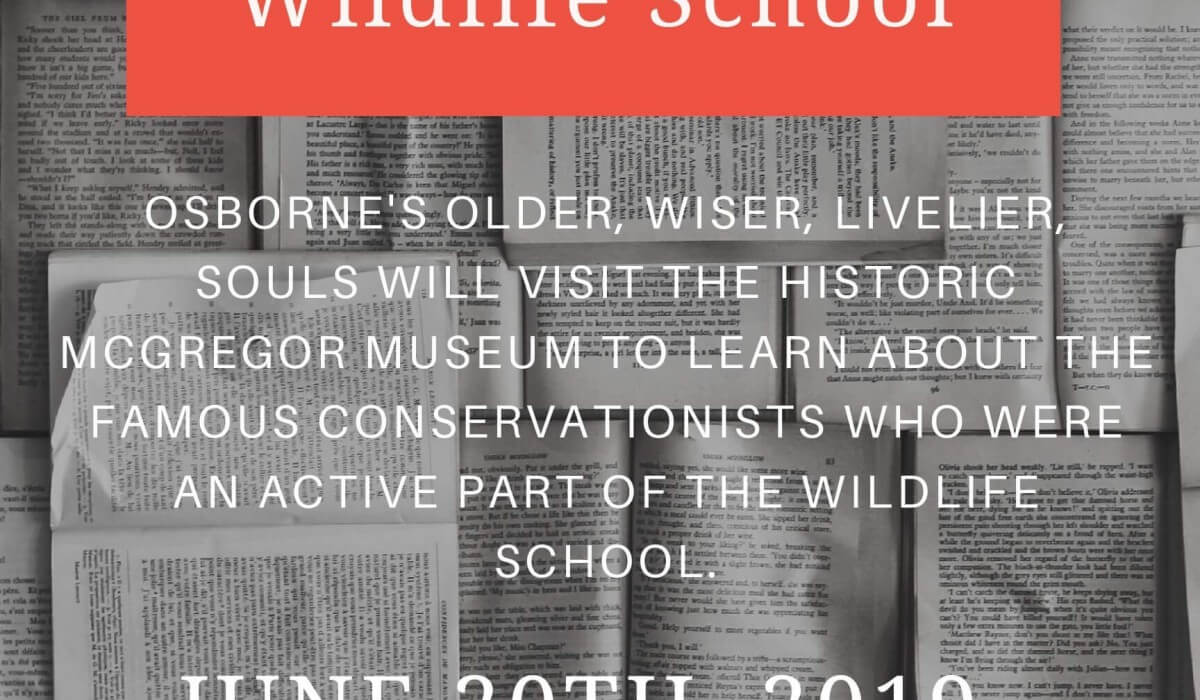 """Post Photo for O.W.L.S. """"The McGregor Wildlife School"""" Thursday, June 20th"""