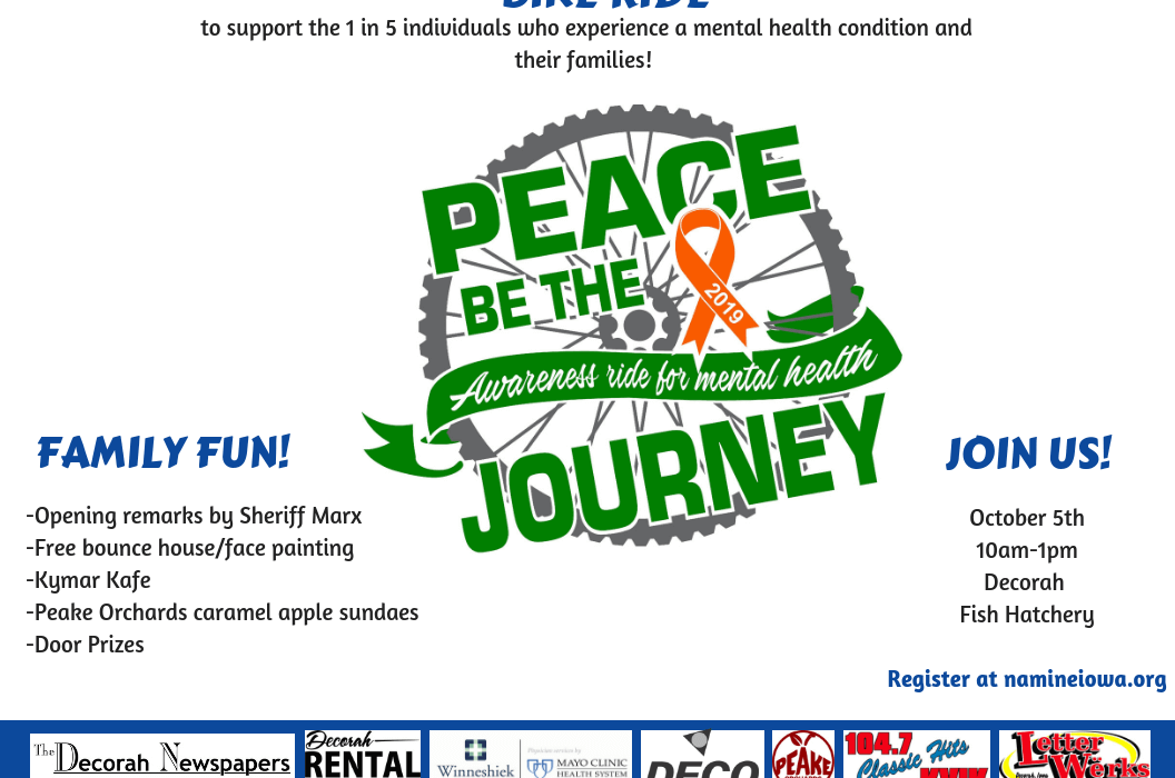 "Post Photo for ""Bike ride to raise mental health awareness in northeast Iowa"""