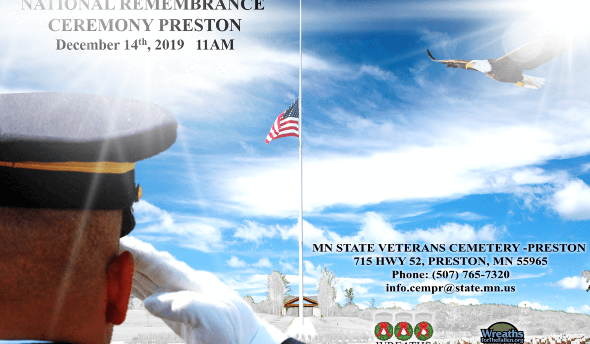 Post Photo for National Remembrance Ceremony on December 14th, 2019 at 11am